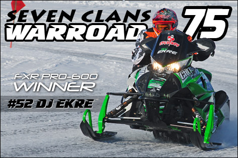 Arctic Cat won 41 races this past weekend, including DJ Ekre's Pro sweep of at the Warroad 75