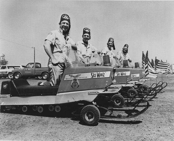 Shriners Snowmobile Corps on Massey-Ferguson Ski Whiz