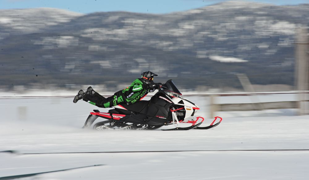 2017 Arctic Cat Thundercat is so fast that riders billow out the back.