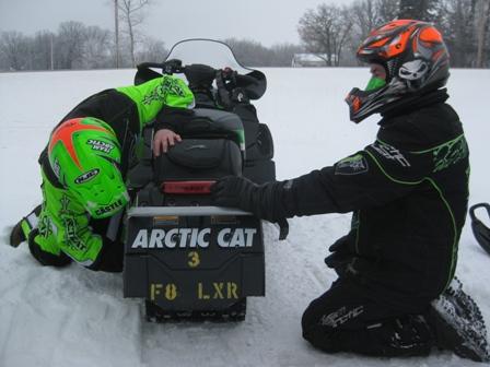 Arctic Cat's Troy Halvorson and Roger Skime