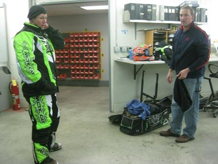 Arctic Cat engineers Troy Halvorson (L) and Doug Wolter