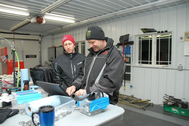 Kirk Hibbert (right) educating the ArcticInsider Dork