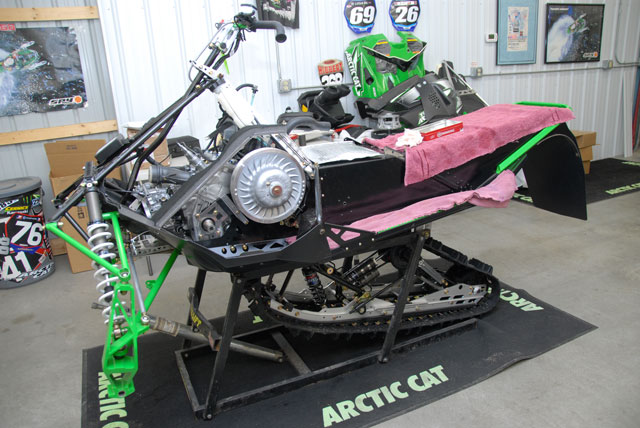 Tucker Hibbert's Stock 2010 Sno Pro Race Sled