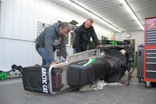 Kirk Hibbert at his race shop