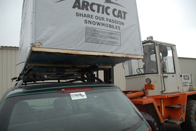 Loading the ArcticInsider Factory Wagon part two