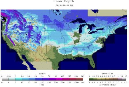 Snow depth 1.11.11