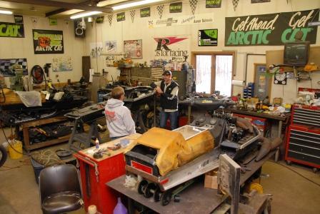 Inside Aaron Scheele's shop