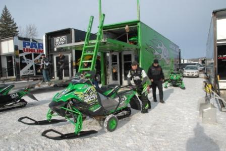 The Team Arctic Cat factory race trailer