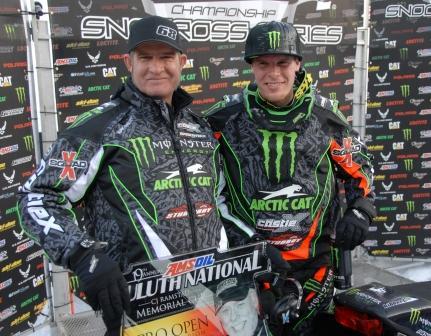 Kirk and Tucker Hibbert, two Arctic Cat racing legends
