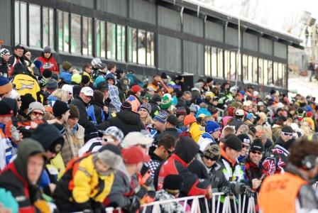 Lots of Arctic Cat fans in this crowd