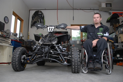Jeff Tweet and his custom ATV