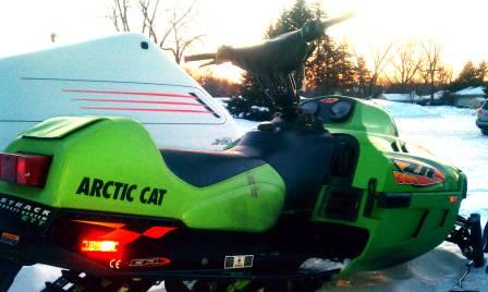 Arctic Cat ZR with handlebar riser