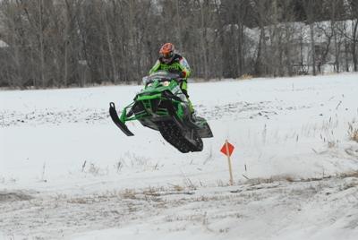 Team Arctic's Dan Ebert winning the I-500