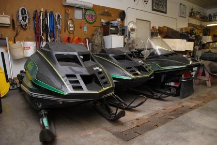 How many hoods does it take to race a '79 Arctic Cat?