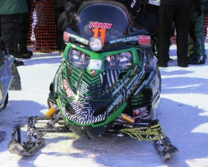 Todd Palin's Arctic Cat F6 tells the story