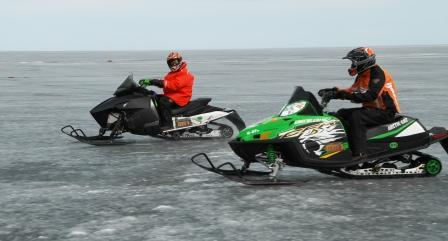Speed testing on the lake in the spring of 2010