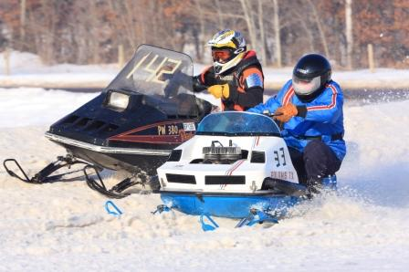 Snow oval racing at ERX