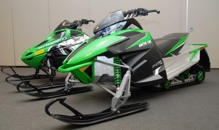 Comparing a model of a 2012 with a Twin Spar Arctic Cat