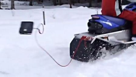 Go Snowmobiling (and bring your laptop with)