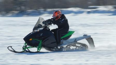 Testing a prototype 2012 XF1100 Arctic Cat