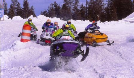 Chris Vincent on an Arctic Cat in 1996