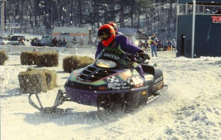 Chris Vincent on an Arctic Cat in 1995