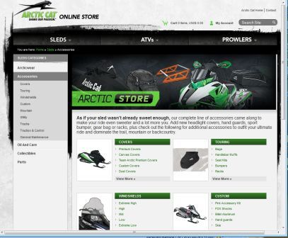 New E-Comm for Arctic Cat