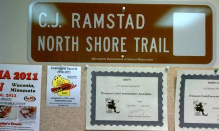 Ramstad Memorial Trail sign