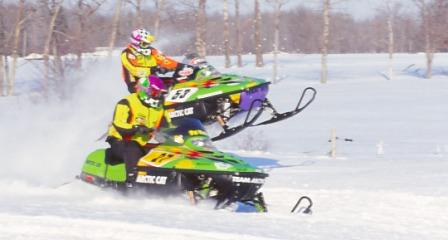 Team Arctic's Pat Mach and Brad Pake in the '99 I-500