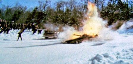 Boss Cat I explodes in Boonville, NY, in 1972, photo courtesy of BossCatLegacy.com