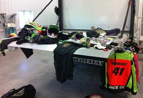 Famous Hibbert race gear