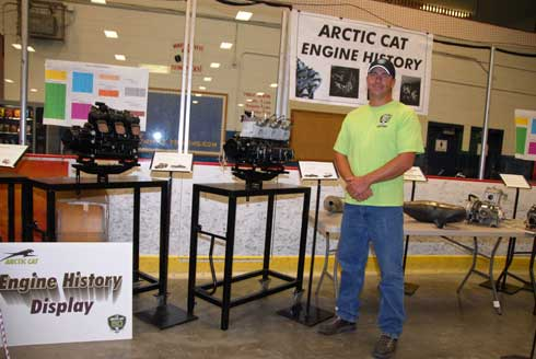 Andy Olson with the Arctic Cat prototype engine display
