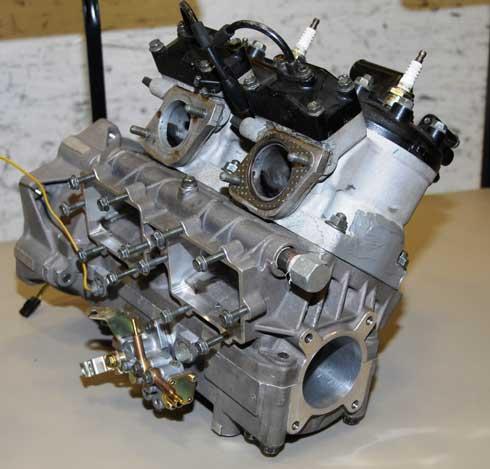 First Suzuki-built laydown 440 engine