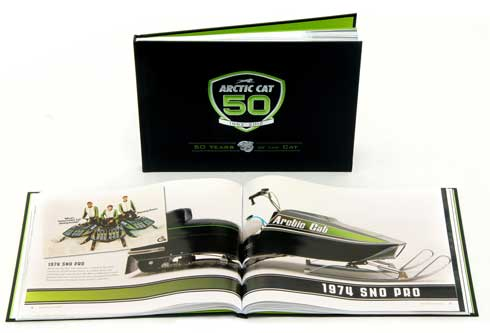 """50 Years of the Cat"" book from Arctic Cat"