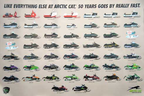 The reprised Arctic Cat Gone Fishin' poster from the 50th