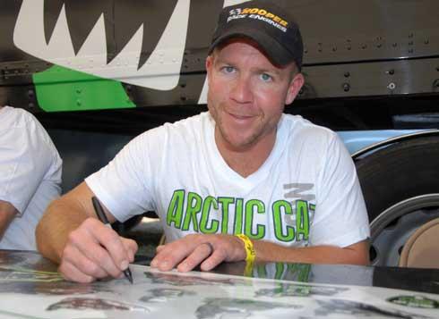 Arctic Cat racer Gary Moyle