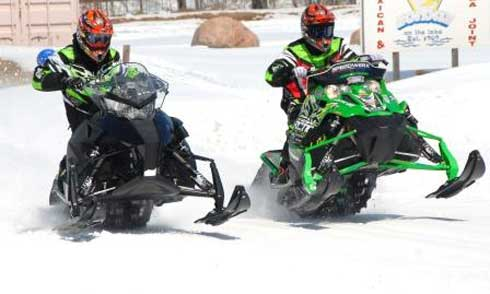 Testing the prototype Arctic Cat Sno Pro race sled