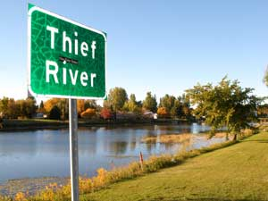 Thief River in Thief River Falls