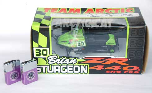 Brian Sturgeon model Arctic Cat ZR 440