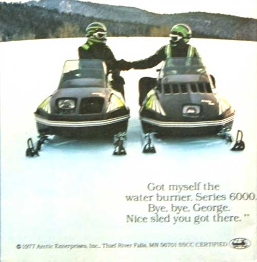 1978 Arctic Cat Flying Tigers Ad