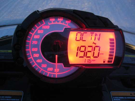 "Arctic Cat Limp Mode registers as ""OCTN"" on the instrument gauge"