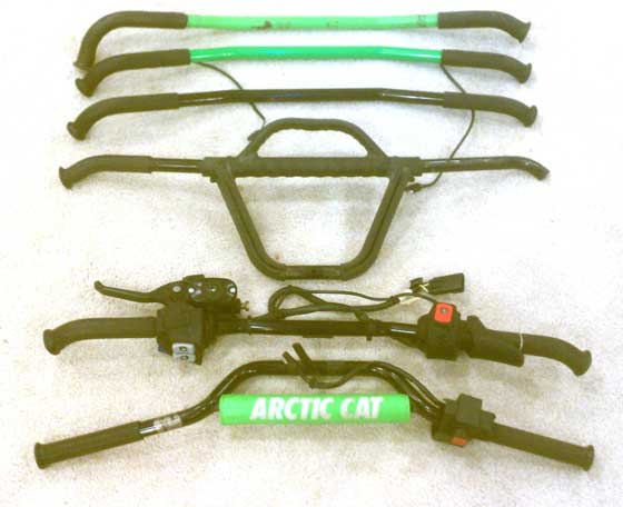 Which handlebar will Shane use on his Arctic Cat El Tigre?