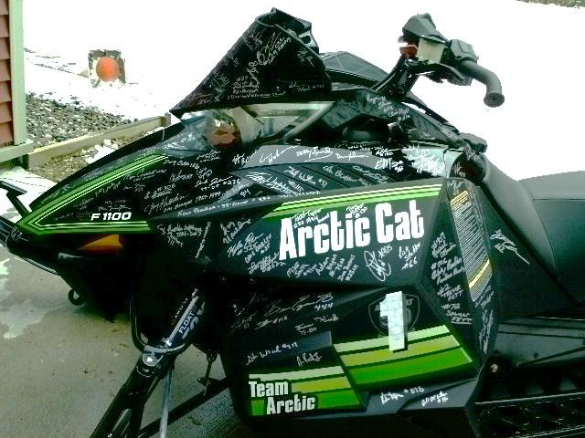 2012 Arctic Cat F1100 Sno Pro for SHOF Auction