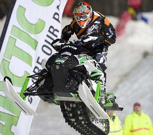 Team CBR/Arctic Cat racer Cory Davis, photo by Wayne Davis