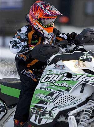 Evan Christian of the CBR/Arctic Cat race team, photo by Wayne Davis