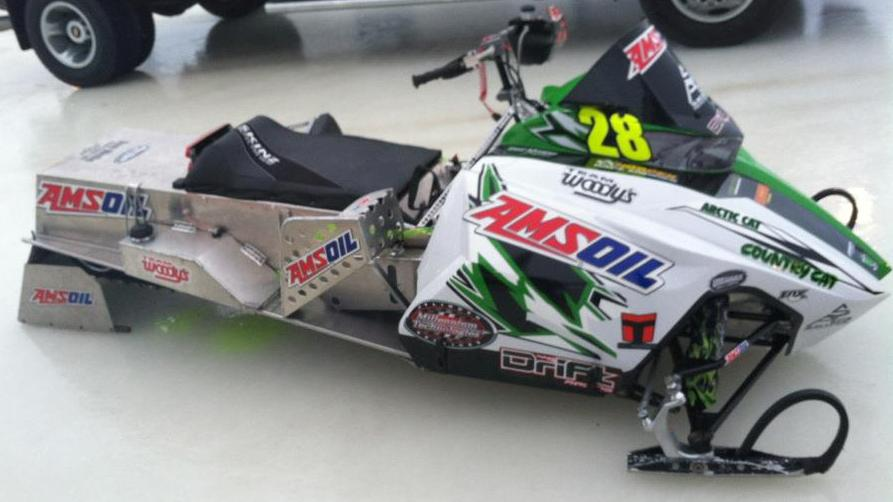 P.J. Wanderscheid's 2012 Champ Arctic Cat race sled
