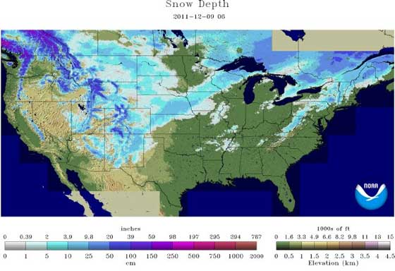 snow depth 12-9-11