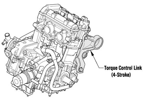 1100 4-stroke engine with Torque Control Link for Arctic Cat