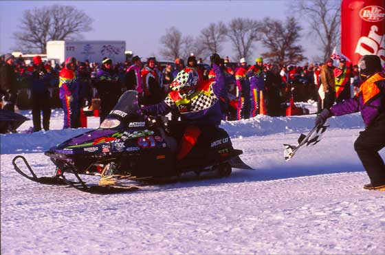 Kirk Hibbert wins Albertville in 1995 on an Arctic Cat ZR