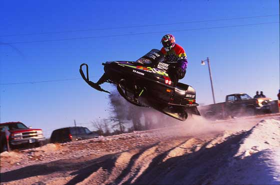Arctic Cat legend Brad Pake at the 1995 BIR race